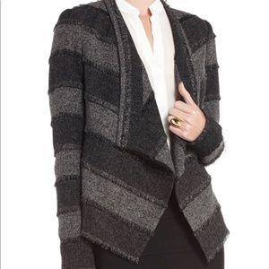 BCBG MAXAZRIA  Aubree Tweed Striped Blazer Size S
